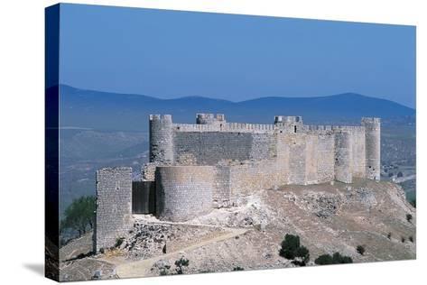 Spain, Castile-La Mancha, Guadalajara, Jadraque, Jadraque Castle, also known as 'Castle of El Cid'--Stretched Canvas Print