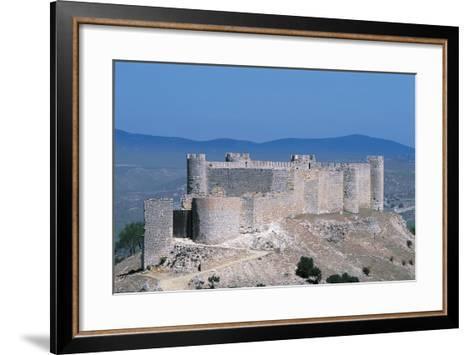Spain, Castile-La Mancha, Guadalajara, Jadraque, Jadraque Castle, also known as 'Castle of El Cid'--Framed Art Print