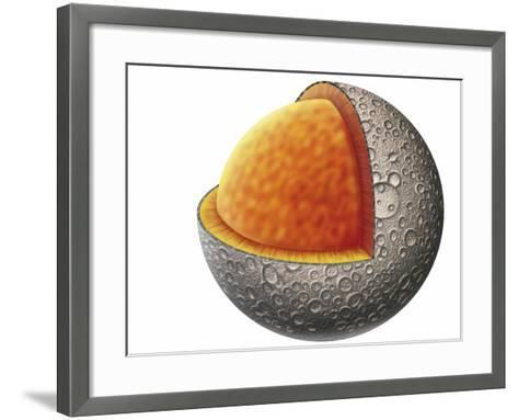 Diagram of Mercury Interior Structure Showing Crust, Mantle and Large Iron Core--Framed Art Print