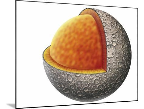 Diagram of Mercury Interior Structure Showing Crust, Mantle and Large Iron Core--Mounted Giclee Print