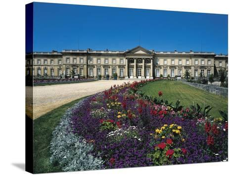 France, Compiegne, Castle and Garden View--Stretched Canvas Print