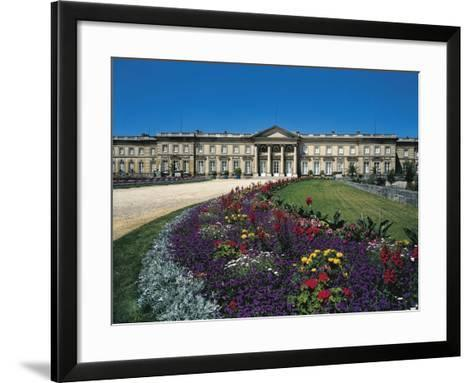 France, Compiegne, Castle and Garden View--Framed Art Print