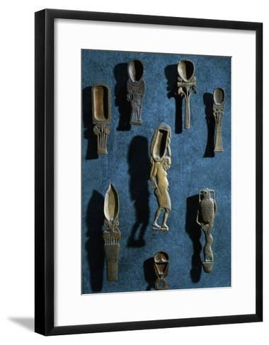 Toiletry Items, Spoons for Cosmetic Colored Powders, New Kingdom--Framed Art Print