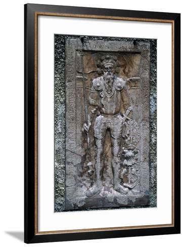 Architectural Detail from Konopiste Chateau, Benesov, Near Prague, Bohemia, Czech Republic--Framed Art Print