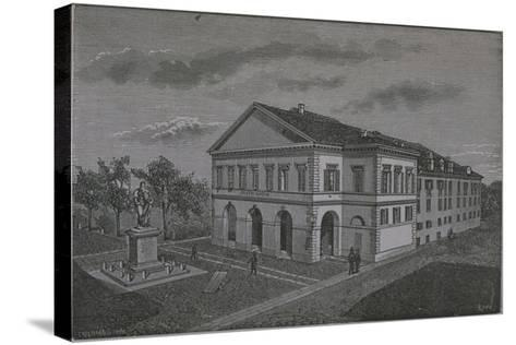 Italy, Novara, Coccia Theatre by Riva from Monograph on Novara--Stretched Canvas Print