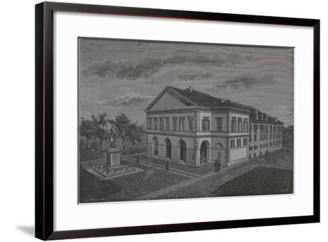 Italy, Novara, Coccia Theatre by Riva from Monograph on Novara--Framed Art Print