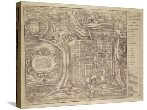 Italy, Turin, Layout of City and Fortress in Citade, 1572--Stretched Canvas Print