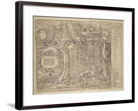 Italy, Turin, Layout of City and Fortress in Citade, 1572--Framed Art Print