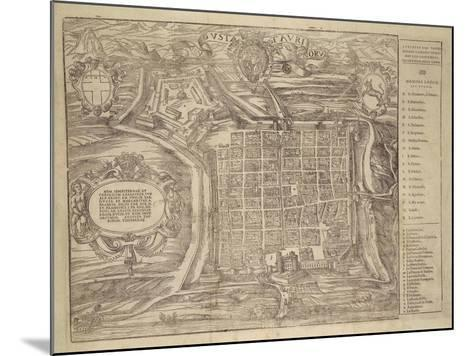Italy, Turin, Layout of City and Fortress in Citade, 1572--Mounted Giclee Print
