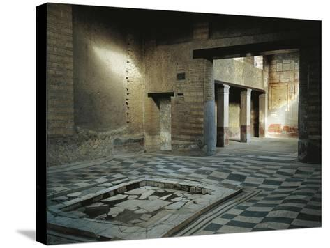 Italy, Campania, Herculaneum, House of Mosaic Atrium BC--Stretched Canvas Print