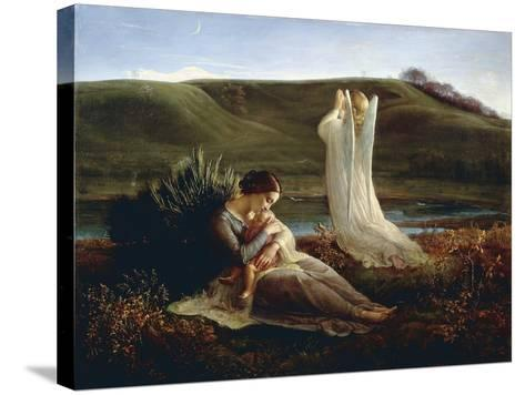 France, Lyon, the Angel and the Mother--Stretched Canvas Print