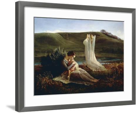 France, Lyon, the Angel and the Mother--Framed Art Print
