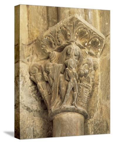 The Binding of Isaac, Capital, Cathedral of Jaca, 12th Century, Spain--Stretched Canvas Print