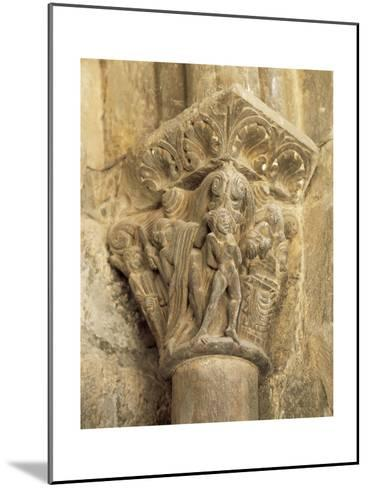 The Binding of Isaac, Capital, Cathedral of Jaca, 12th Century, Spain--Mounted Giclee Print