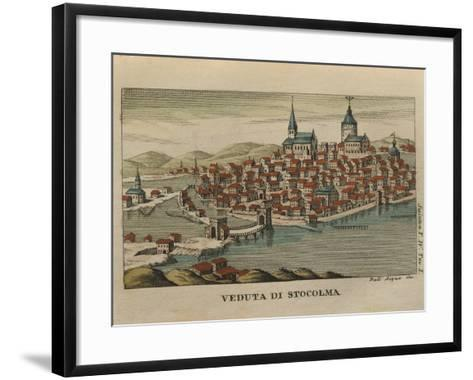 View of Stockholm from Travels of Mr. Reinbeck, 1805--Framed Art Print