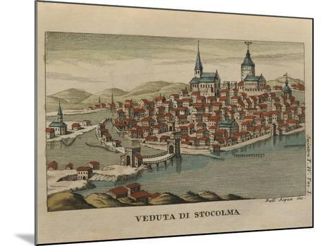 View of Stockholm from Travels of Mr. Reinbeck, 1805--Mounted Giclee Print