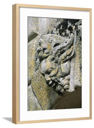 Decorative Detail from Chateau De Saint-Loup Sur Thouet, Poitou-Charentes. France--Framed Art Print