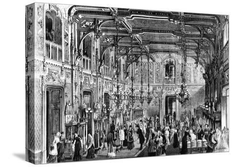 The Gothic Hall of the Bocconi Brothers' Department Stores in Milan, 1879, Italy--Stretched Canvas Print