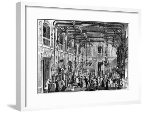 The Gothic Hall of the Bocconi Brothers' Department Stores in Milan, 1879, Italy--Framed Art Print