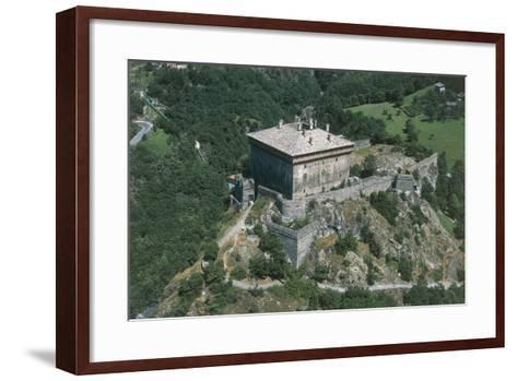 Italy, Aosta Valley, Castle of Verres, Aerial View--Framed Art Print