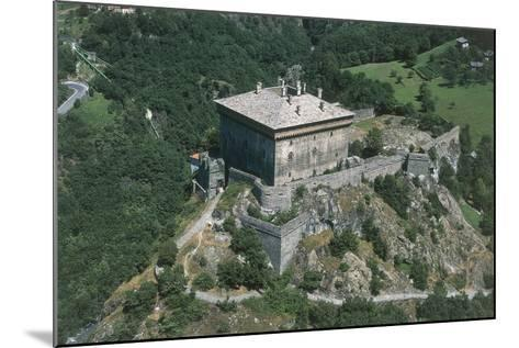 Italy, Aosta Valley, Castle of Verres, Aerial View--Mounted Giclee Print