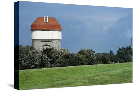 Germany, Duisburg-Rheinhausen, Hohenbudberg Water Tower--Stretched Canvas Print
