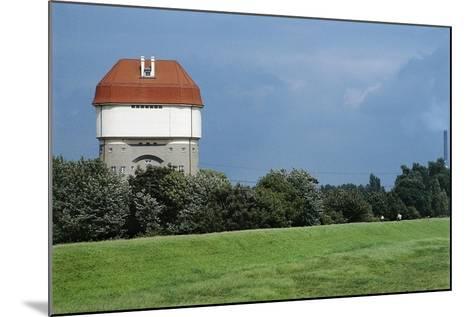 Germany, Duisburg-Rheinhausen, Hohenbudberg Water Tower--Mounted Giclee Print