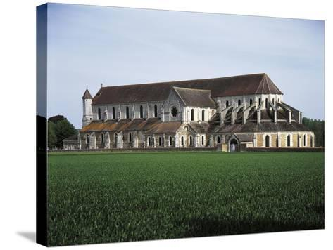 France, Pontigny, Church in 12th Century Cistercian Abbey--Stretched Canvas Print