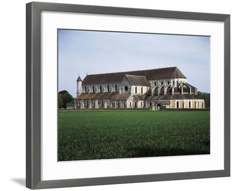 France, Pontigny, Church in 12th Century Cistercian Abbey--Framed Art Print