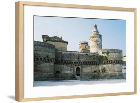Castle of Vasto, Chieti, 1439, Abruzzo, Italy--Framed Art Print