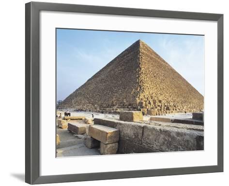 Egypt, Giza, Giza Pyramids, Kheops Pyramid and Tombs of Princes.--Framed Art Print
