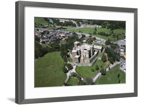 Italy, Aosta Valley, Clavalité Valley, Castle of Fenis, Aerial View--Framed Art Print