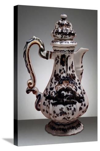 Coffee Pot, Maoilica, Antonibon Manufacture, Nove, Bassano, Veneto, Italy--Stretched Canvas Print