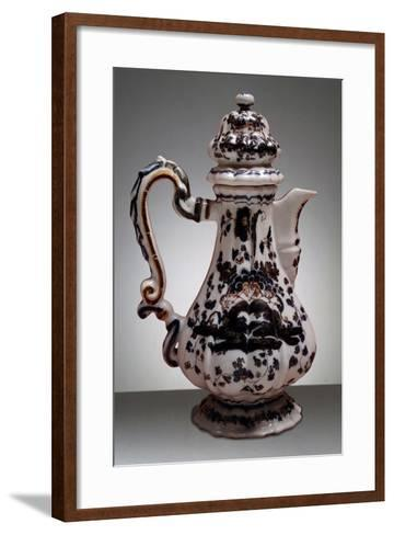 Coffee Pot, Maoilica, Antonibon Manufacture, Nove, Bassano, Veneto, Italy--Framed Art Print