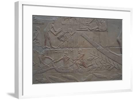 Egypt, Memphis, Saqquara Necropolis, Mastaba of Kagemni, Painted Relief--Framed Art Print