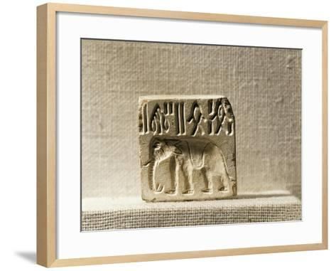 Steatite Seal Depicting an Elephant, Late Mohenjo-Daro Period--Framed Art Print