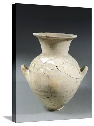 Clay Two-Handled Amphora, Italy, 8th Century BC--Stretched Canvas Print