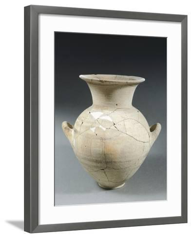 Clay Two-Handled Amphora, Italy, 8th Century BC--Framed Art Print