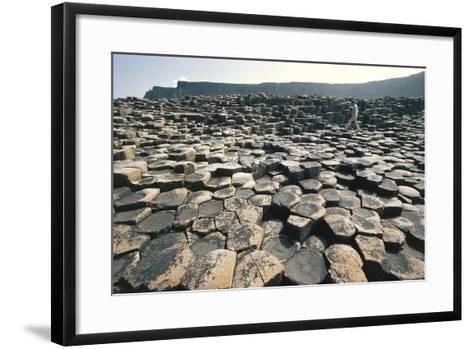 UK, Northern Ireland, County Antrim, Giant's Causeway, Basaltic Prisms--Framed Art Print