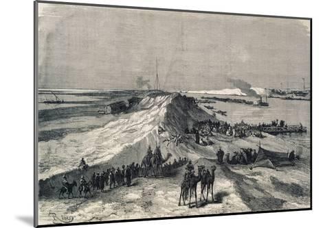 The Suez Canal Near Al Kantara, Syrian Caravans Waiting to Be Ferried Across, Egypt--Mounted Giclee Print