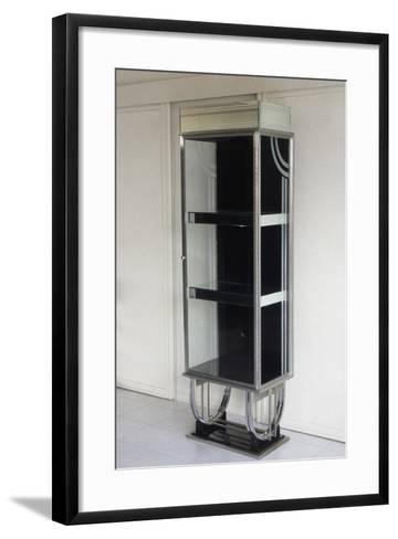 Shop Display Cabinet, 1930-1940, Steel and Glass, United States of America--Framed Art Print
