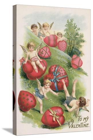 To My Valentine, Victorian Card--Stretched Canvas Print