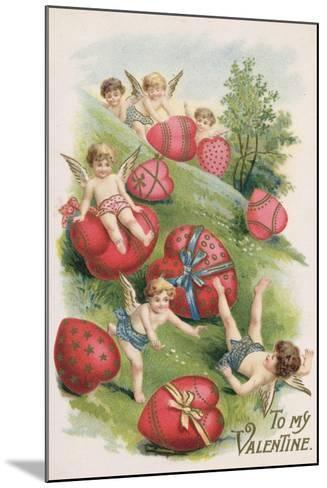 To My Valentine, Victorian Card--Mounted Giclee Print