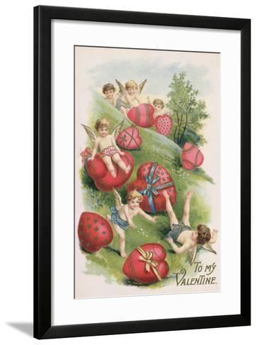 To My Valentine, Victorian Card--Framed Art Print