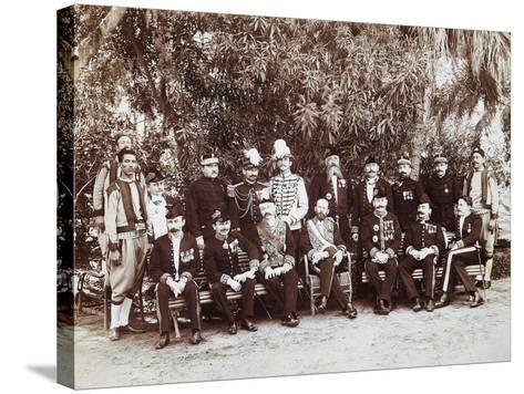 French Regent of Tunis Pierre Millet and His Headquarters' Staff, 1881, Colonial Wars, Tunisia--Stretched Canvas Print