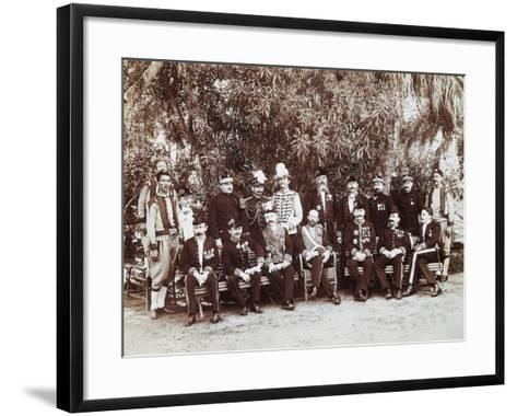 French Regent of Tunis Pierre Millet and His Headquarters' Staff, 1881, Colonial Wars, Tunisia--Framed Art Print