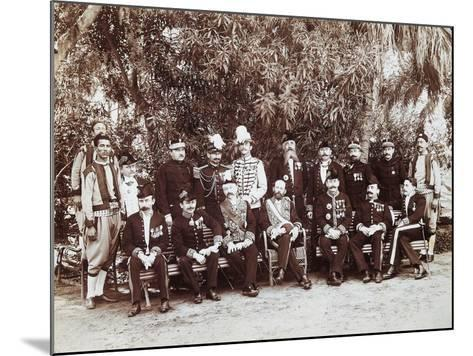 French Regent of Tunis Pierre Millet and His Headquarters' Staff, 1881, Colonial Wars, Tunisia--Mounted Giclee Print
