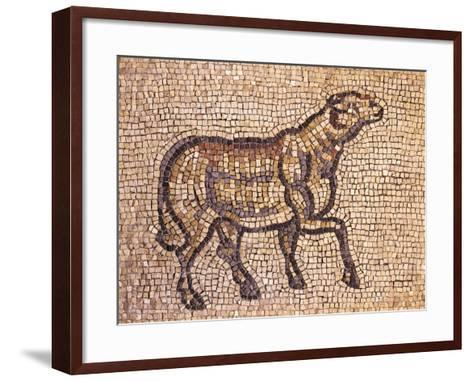 Mosaic Depicting Ram or Sheep, from Jieh, the Old Porphyrion, Lebanon--Framed Art Print