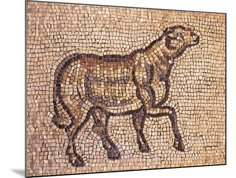 Mosaic Depicting Ram or Sheep, from Jieh, the Old Porphyrion, Lebanon--Mounted Giclee Print