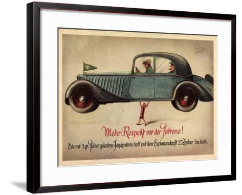 Künstler Jagd, 3Gr Pulver Jagdpatrone, Automobil--Framed Art Print
